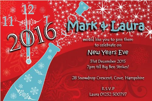 10 Personalised New Years Eve Party Invitations No3